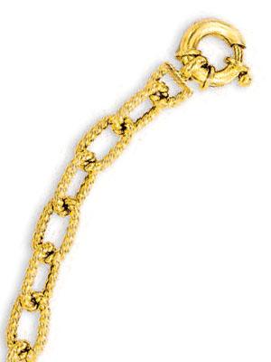 14k Yellow Fancy Link Bracelet - 7.25 Inch