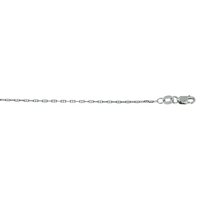 Jewelryweb 14k White Gold 1.3mm Anchor Chain Necklace - 30 Inch