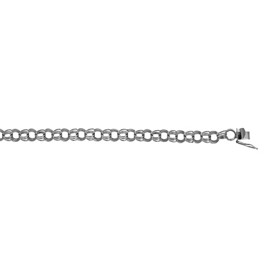 Jewelryweb 14k White Gold 7mm Solid Link Bracelet - 7 Inch at Sears.com