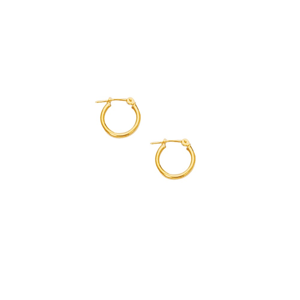 10k Yellow 2 mm Hoop Earrings